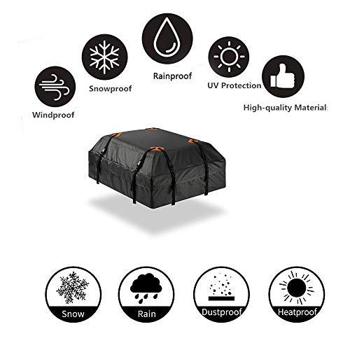 Robuste, wasserdichte Dach-Autotasche - 15 Kubikfuß Hochwertige, Universelle, wasserdichte, Faltbare, Auslaufsichere, Reisende Dach-Autotasche