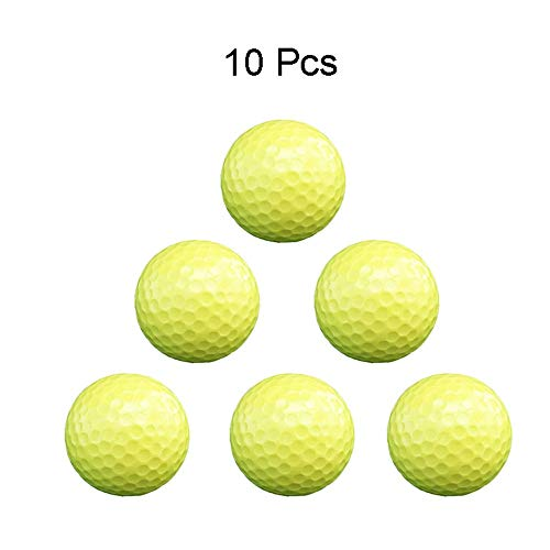 Great Deal! GQMNL Golf Balls Men's Yellow 2 Layer Color Golf Practice Ball Women's Solid Color Wear ...