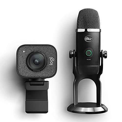 Logitech StreamCam per Streaming Live e Creazione di Contenuti in Full HD + Blue Microphones Yeti X Professionale USB a Condensatore con Misurazione ad Alta Risoluzione