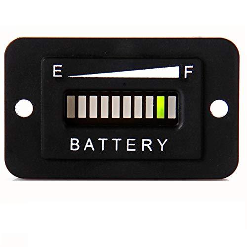 SEARON 48 Volt LED EZGO Battery Meter Indicator Gauge Design Specially for EZGO Golf Cart/Trojan Batteries (48 Volt)