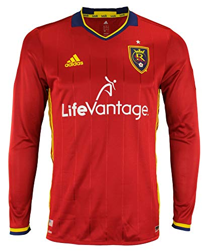 Adidas Real Salt Lake Primary Authentic Long Sleeve Jersey (Red) Large