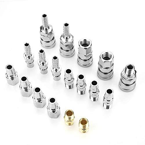 FTVOGUE 18 stuks slangcompressor luchtcompressor aansluiting snelscheiding montage set 1/4 inch pneumatisch ijzer onderdelen DIY handgereedschap accessoires