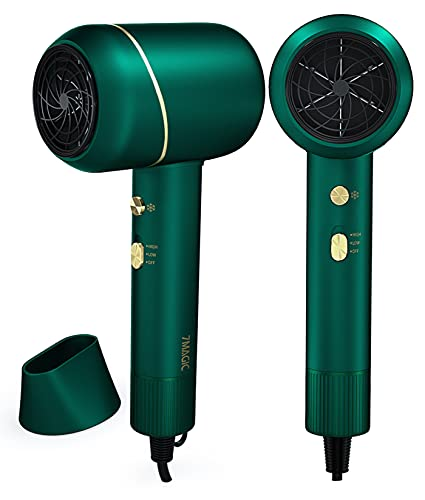 Ionic Hair Dryer, 1875 Watt Blow Dryer with 1 Concentrator, Professional Hair Blow Dryer for Fast Drying, Lightweight Hairdryer for Travel, Cool, Heat and 2 Speed Settings, for Women and Kids