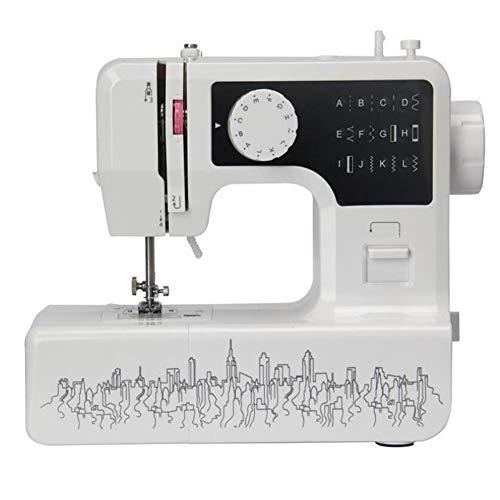 Beginner naaimachine Portable Basic Makkelijk te gebruiken voor volwassenen en kinderen 12 Ingebouwde steken 2 snelheden Dubbele multifunctionele elektrische handheld met voetpedaal
