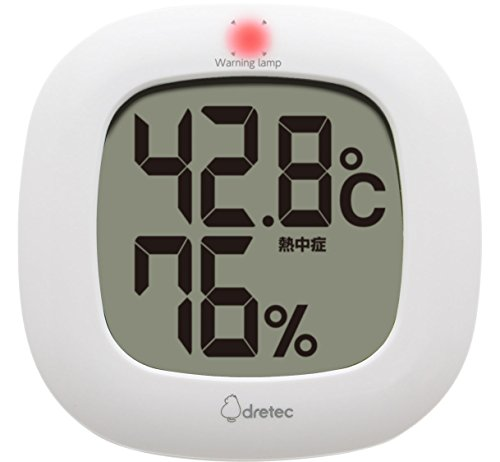 dretec(ドリテック) デジタル温湿度計 温度計 湿度計 デジタル コンパクト シンプル おしゃれ インテリア 大画面 卓上 壁掛け リビング 室内 赤ちゃん O-295WT(ホワイト)