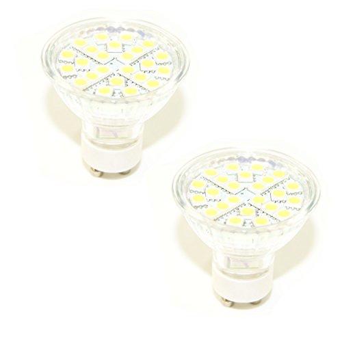 Ex-Pro® [2Pack]–GU10C, gu10-c 24smled weißes Licht Cool Running Tageslicht Glühbirnen Ersatz für Mini Daylight Kits. (EX-Pro® und anderen Marken mit Fassung GU10). 220V True Tageslicht.