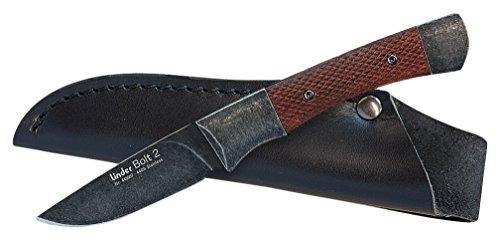 Linder BOLT 2,440A blackwashed, Textur-Palisander, Klinge 7 cm, Fahrtenmesser