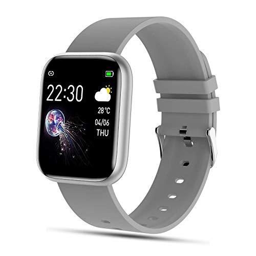 FENHOO Smartwatch, 1.4 Zoll Touchscreen Fitness Tracker mit Pulsmesser, IP67 Wasserdicht Fitness Uhr mit Schrittzähler, Blutdruck Messgeräte Sportuhr Stoppuhr Damen Herren Smart Watch für iOS Android