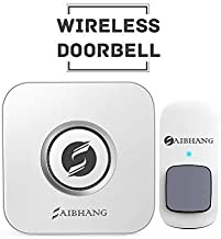 Saibhang Softronics Pvt Ltd Release Battery-Free Kinetic Wireless Waterproof Plastic Doorbell with 52 Ringtones 4 Levels Sound Adjust Operating Range 150 m (White)