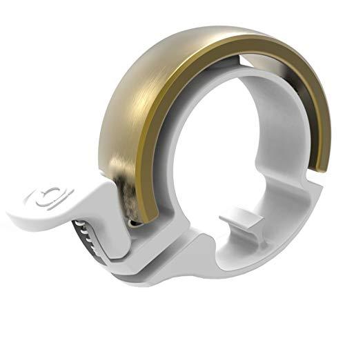 Knog Oi Classic Fahrradklingel White/Brass Durchmesser L 2021 Fahrradhupe