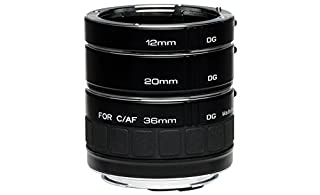 Kenko Auto Extension Tube Set DG 12mm, 20mm, and 36mm Tubes for Nikon AF Digital and Film Cameras - AEXRUBEDGN (B000JG88JU)   Amazon price tracker / tracking, Amazon price history charts, Amazon price watches, Amazon price drop alerts