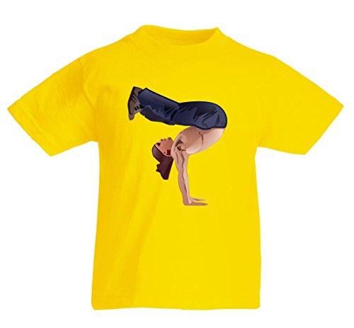 Camiseta de Breakdance de B Boying-Brechen, gimnasia, hombre, entrenamiento de fitness, ejercicios, deportes, entrenador, atleta para hombre, mujer, niños, 104 – 5 XL amarillo Talla del hombre: 4X-Large