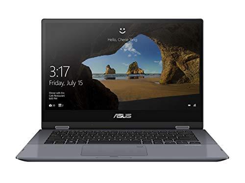 """ASUS VivoBook Flip TP412FA-EC707T - Ordenador Portátil de 14"""" Full HD (Intel Core i5-10210U, 8GB RAM, 512GB SSD, Intel UHD Graphics, Windows 10 Home) Gris Estrella-Teclado QWERTY español"""