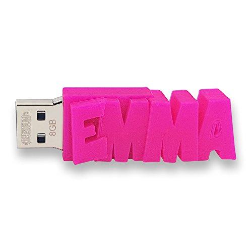 Chiavetta USB personalizzata con il tuo testo – il colore di tua scelta – USB 3.0 – 8 Go, 16 Go o 32 Go – un regalo originale e unico (8 GB, Rosa)