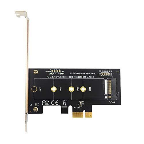 bobotron Tarjetas adicionales PCIE a M2 PCI Express 3.0 X1 a NVME SSD Soporte para M2 PCIE Raiser 2230 2242 2260 2280 M.2 SSD