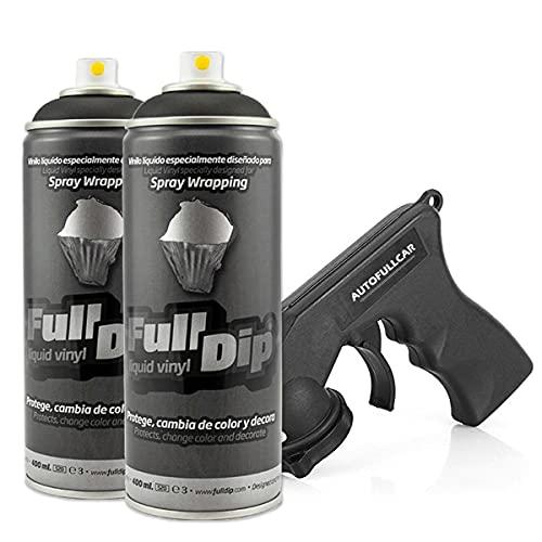 AutoFullCar Full Dip Pack 2 Spray Negro Mate FULLDIP - TiendaFullDip.com (Negro Mate)