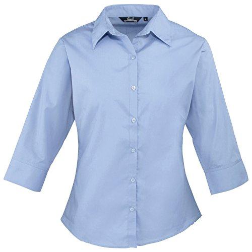 Dames Vrouwen Premier 3/4 Mouw Poplin Gemakkelijk Verzorgd Hoeslaken Shirt