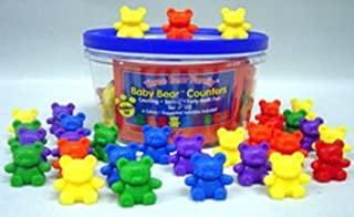 7 Pack LEARNING RESOURCES COUNTERS BABY BEAR 6 COLORS 102-PK