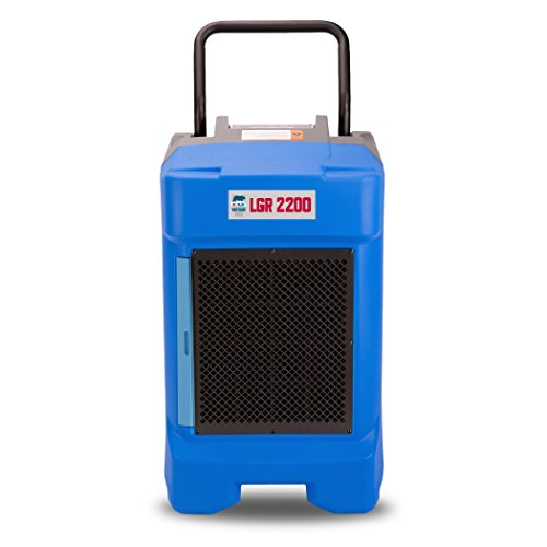 B-Air VG-2200 225 Pint Commercial LGR Dehumidifier for Water Damage Restoration Equipment Mold Remediation, Blue