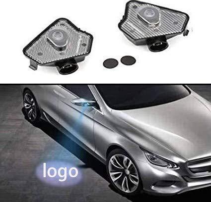 Duleutgnu 2 Stücke LED Seite Unter Spiegel Projektor Geist Logo Willkommen Ambient Auto Lampe Ersatz Rücklicht Zubehör