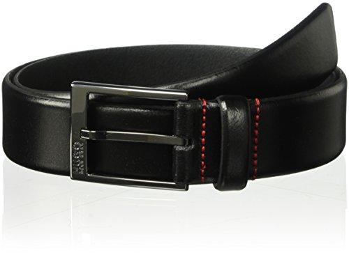Hugo Boss Herren Garney Leather Belt Gürtel, schwarz, 38