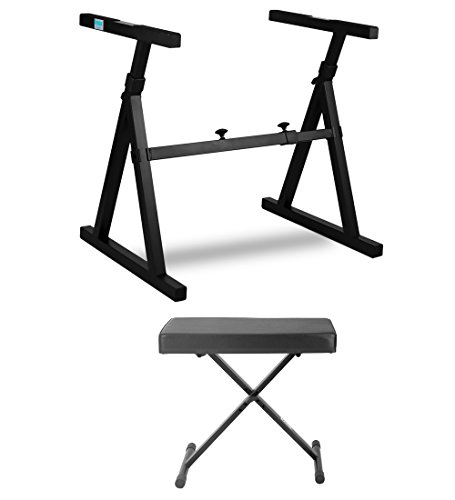 Knox Z-Style Electronic Keyboard Stand with Adjustable X Style Keyboard Bench