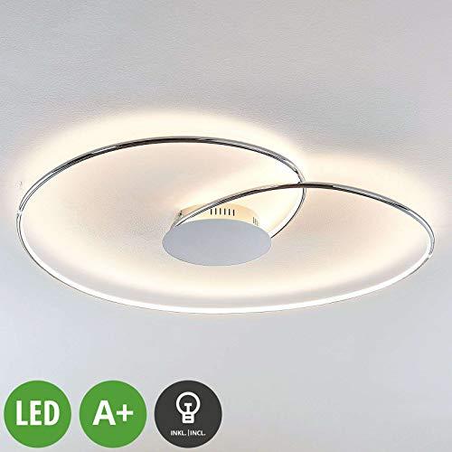 Lindby LED Deckenleuchte 'Joline' (Modern) in Chrom aus Metall u.a. für Wohnzimmer & Esszimmer (A+, inkl. Leuchtmittel) - Lampe, LED-Deckenlampe, Deckenlampe, Wohnzimmerlampe
