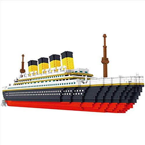 Bloque de construcción, Modelo Titanic Juego de Bloques de construcción Modelo 3D DIY Diamante Mini construcción Nano Ladrillos en Miniatura Juguetes educativos creativos Regalo para Adultos y niños