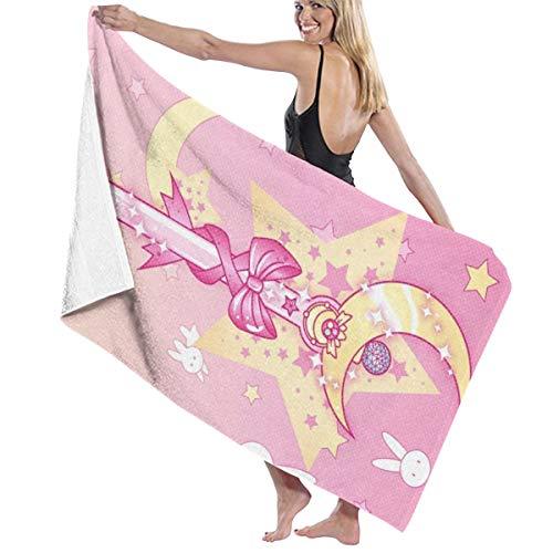 Sailor Moon Quick Dry Badetuch Stilvolle Männer und Frauen Schwimmen Yoga Bikini Sport Reisen Camping Badetuch