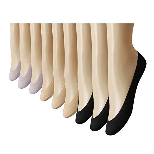 Caudblor Women's No Show Liner Socks-No Show Ultra Low Socks Women for Flats High Heels,9 Pack