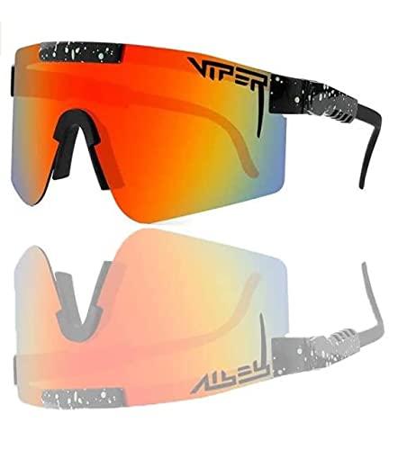 Gafas de sol polarizadas para hombre y mujer, cobra hombre fresco sol gafas de sol sin gafas con protección UV