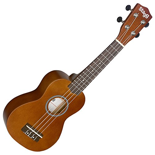 Stagg USNAT - Ukelele soprano (4 cuerdas), color marrón