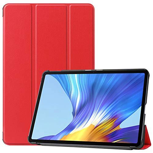 HoYiXi Custodia per Huawei MatePad 10.4 Pollici 2020 Ultra Slim Case in pelle Smart Cover con Supporto Funzione Custodia di Tablet per Huawei MatePad 10.4(BAH3-AL00 BAH3-W09)- Rosso