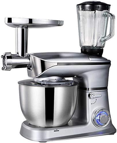 GPWDSN keukenmachine keukenmachine mixer 1300 W, 5 liter, vleesmolen mixglas verschillende verbindingen Easy Clean Black Operate