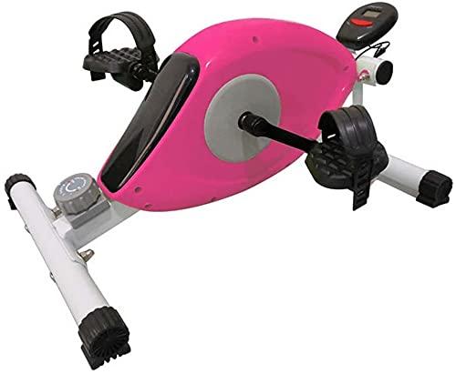 Qjkmgd Ejercitis de pedal de fitness portátil - Peddler magnético Bicicleta de ciclo estacionario - bajo el entrenamiento de escritorio para piernas y brazos - Mini spin Bike Bike Ejercicio de bajo im