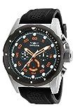 Invicta Men's Speedway 50mm Stainless Steel and Black Polyurethane Chronograph Quartz Watch, Black (Model: 20305)
