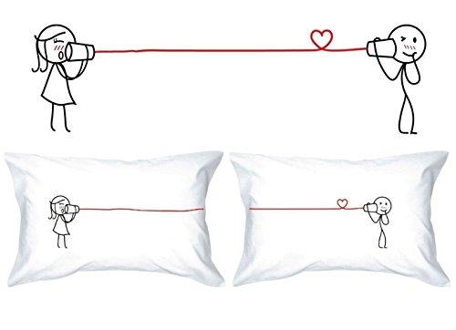 Human Touch - Amor EL SUSURRO II - De El y de Ellas - Fundas de Almohada romántica Peculiar, Regalo de Boda, Regalo de San Valentín, o Simplemente para elevar una Sonrisa.