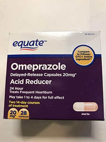 Equate Acid Reducer Omeprazole Magnesium 20.6 mg, 28-Count