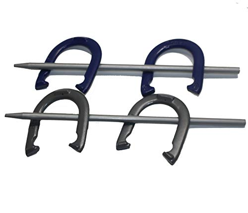 Horseshoe Set Heavy Duty Regulation Professional Set Very Nice 4 Horse Shoes 2 Stakes 2.5lb Horseshoes Grey