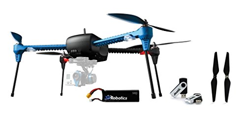 3d Robotics Iris+ Multicopter with 5100mAh 3S 8C Lithium Polymer Battery, Replacement Propeller Set and Jestik 4GB USB Drive Value Bundle with 2x 3S...