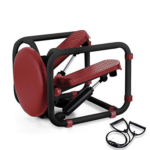 Poncho Stepper Desk Multi-Functional Mini Twist Stepping Machine with Resistance Bands,...