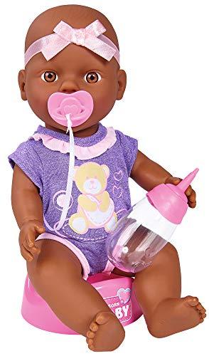 Simba 105030068 New Born Baby Puppe, Trink und Nässfunktion, 4 Teile, 30cm