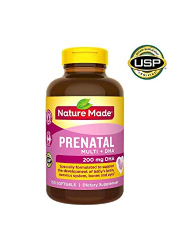 Nature Made Prenatal + DHA 200 mg Multivitamin Softgels 150 Ct