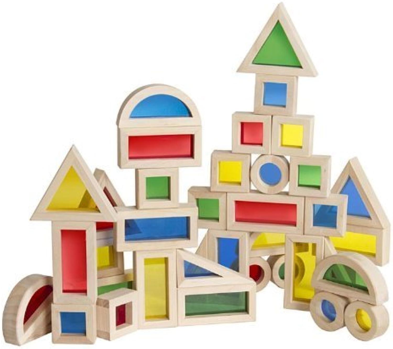 directo de fábrica JR Rainbow Rainbow Rainbow Block 40 Piece Set by GUIDECRAFT  precio al por mayor