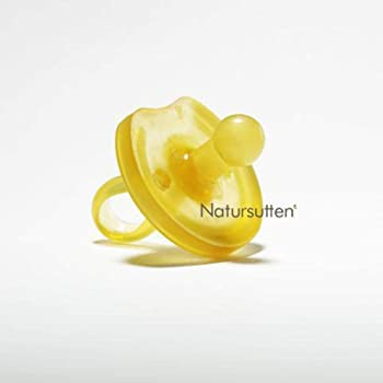 Natursutten Small 0-6 mo, Natural Rubber Pacifier, Butterfly Shield, Rounded Nipple