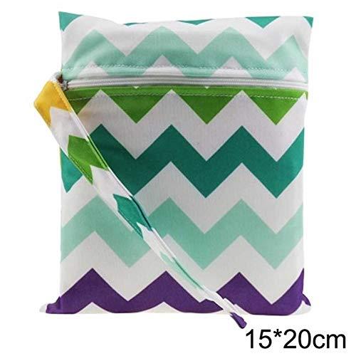 Single-Tasche Wet Dry Bag, wasserdichte Baby-Stoff-Tasche, Wäschebeutel, Windeltasche, wiederverwendbare Faltbare Wäschekorb, faltbare Wäschesack, fol (Color : 11 15cm by 20cm)