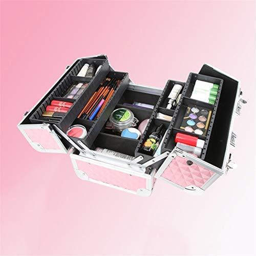 Werkzeug Aufbewahrungsbox Frauen große Kapazitäts-Berufsverfassungs-Organisator Wasserdicht Große Geschossbauten Tragbarer Hübsche Koffer Mode-kosmetischer Fall werkzeugkasten