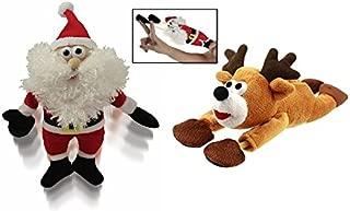 KOVOT Santa & Reindeer Sound Flingshot Set - 1 Santa and 1 Reindeer Included