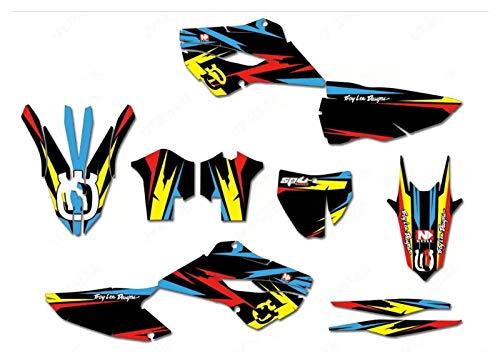 Wjyfexble 3M Motocicleta Gráficos Protector Fondos Tatuajes Calcomanías Pegatinas Kits para Husqvarna Te Fe TC FC 125 250 300 350 450 2014-2016 WYJHN (Color : Green)