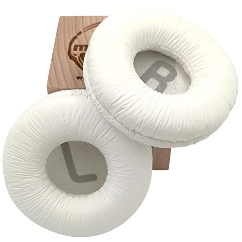 misodiko Replacement Round-70mm Cushions Ear Pads - for JBL T500BT T450BT, Tune 500BT 600BTNC On-Ear/Sony MDR-V150 V200 V250 V300 V400 ZX300, Headphones Repair Parts Earmuff Earpads (White)